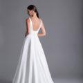 Caroline Castigliano Payton, plain wedding dress, crepe wedding dress, a-line wedding dress, plain a-line wedding dress, wedding dress, wedding dresses, wedding gown, luxury wedding dress, modern wedding dress
