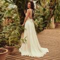 Catherine Deane Reva, catherine deane wedding dress, plain wedding dress, silk wedding dress, aline wedding dress, beach wedding dress