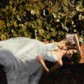 Catherine Deane Skyla, catherine deane wedding dress, boho wedding dress, beach wedding dress, destination wedding dress, aline wedding dress, glitter wedding dress, flowy wedding dress