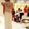 Nicole Milano NIAB18145, wedding dress, evening wedding dress, beaded wedding dress, black tie wedding dress, high neck wedding dress, fitted wedding dress