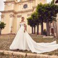 Nicole Milano NIA20591, wedding dress, ball gown wedding dress, off the shoulder wedding dress, bardot wedding dress