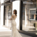 Pronovias Andrews, wedding dress, fitted lace wedding dress, long sleeved wedding dress