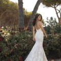 Pronovias Floriana, lace wedding dress, fitted lace wedding dress, fitted wedding dress, low back wedding dress, wedding dress, wedding gown, wedding dresses