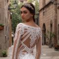 Pronovias Pasiphae, wedding dress, fitted wedding dress, crepe wedding dress