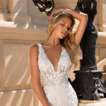 Moonlight H1378, fitted lace wedding dress