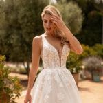 Moonlight J6778, ball gown wedding dress, glitter tulle skirt, blush ball gown wedding dress