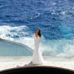 Pronovias Alabama, wedding dress, fitted crepe wedding dress, long sleeved wedding dress