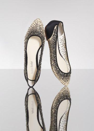 Bella Belle Shoes Ariel, flat shoes, ballet flat shoes, black pretty flats, black evening flats, flat occasion shoes, flat evening shoes