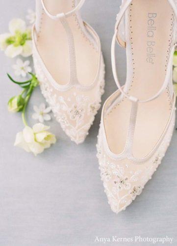 Bella Belle Shoes Charlotte, wedding shoes, pretty wedding shoes, ivory wedding shoes, beaded wedding shoes, t-bar wedding shoes, comfortable wedding shoes