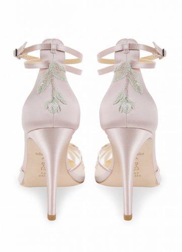 Bella Belle Shoes Flora, Wedding shoes, comfortable wedding shoes, pretty wedding shoes, pretty shoes, ivory wedding shoes, blush wedding shoes, lace wedding shoes, high heel wedding shoes, pink wedding shoes