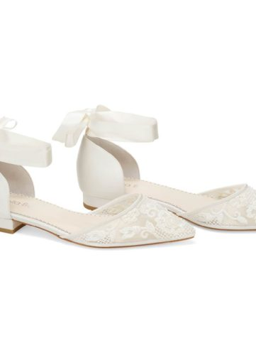 Bella Belle Shoes Ivy, wedding shoes, ivory wedding shoes, beautiful wedding shoes, modern wedding shoes, designer wedding shoes, flat wedding shoes