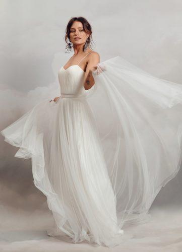 Catherine Deane Hayley Overskirt, bridal separates, bridal overskirt, tulle overskirt, bridal two piece, wedding dress,