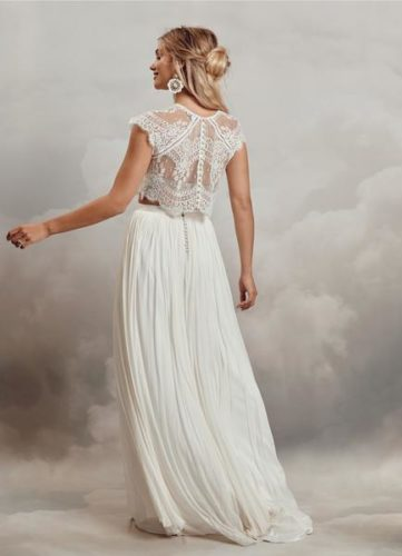Catherine Deane Itala Top and Anika Skirt, bridal separates, bridal two piece