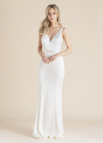 Catherine Deane Livvy, fitted satin wedding dress
