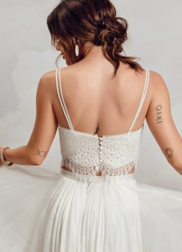 Catherine Deane Maggie Top, bridal separates, bridal two-piece