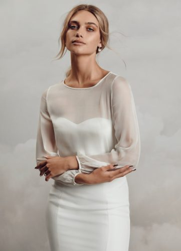 Catherine Deane Mell Top, bridal separates, bridal two piece