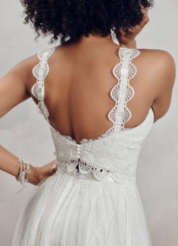 Catherine Deane Michaela Top, bridal separates, bridal two piece, boho bride, boho bridal separates, boho bridal top