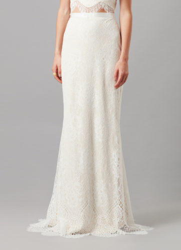 Catherine Deane Morocco Skirt, bridal separates, bridal two piece, bridal skirt