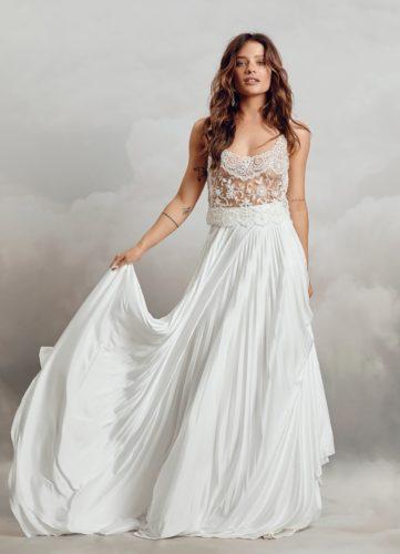 Catherine Deane Rana Skirt, bridal separates, bridal two piece, bridal skirt, catherine deane separates
