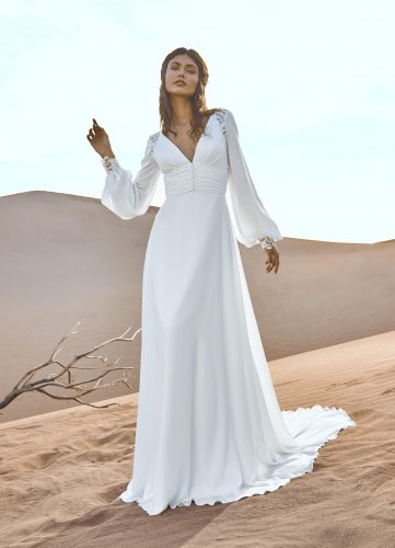 Pronovias Gobustan wedding dress - Available at Rachel Ash Bridal boutique in Atherstone, Warwickshire