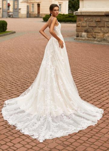 Moonlight Couture H1463, wedding dress, sexy wedding dress, fitted wedding dress, lace wedding dress