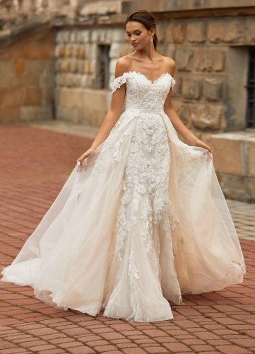 Moonlight Couture H1467, wedding dress, sexy wedding dress, fitted wedding dress, lace wedding dress A
