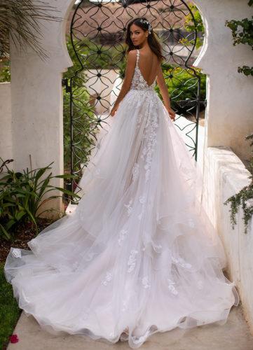 Moonlight Couture H1394, a-line wedding dress, blush wedding dress, moonlight bridal wedding dress