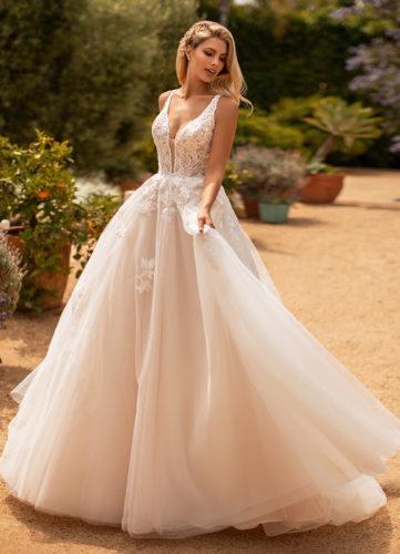 Moonlight J6778, ball gown wedding dress, glitter tulle skirt, blush ball gown wedding dress, princess wedding dress, glitter wedding dress, moonlight bridal wedding dress