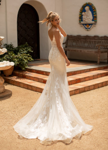 Moonlight J6780, fitted glitter and lace wedding dress, glitter tulle wedding dress, champagne wedding dress, moonlight bridal wedding dress