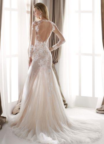 Nicole Milano NIA20431, wedding dress, fitted wedding dress, lace wedding dress, long sleeve wedding dress