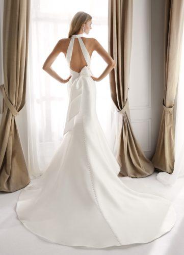 Nicole Milano NIA20631, wedding dress, mikado wedding dress, fitted wedding dress, discount wedding dress, sample sale, wedding dress sale, sale wedding dress, cheap designer wedding dress
