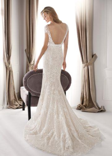 Nicole Milano NIA20681, fitted wedding dress, discount wedding dress, sample sale, wedding dress sale, sale wedding dress, cheap designer wedding dress