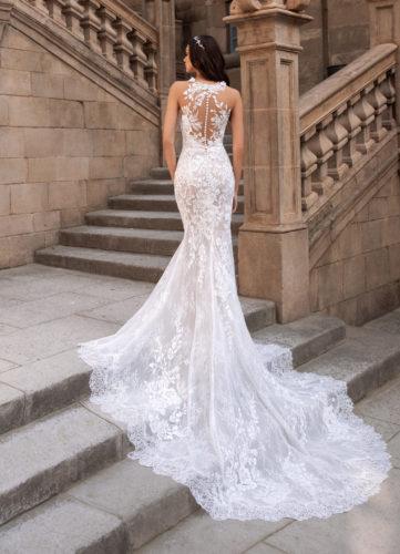 Pronovias Hati, wedding dress, fitted wedding dress, lace wedding dress