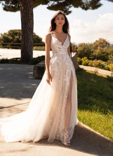 Pronovias Hyperion, wedding dress, a-line wedding dress, lace wedding dress