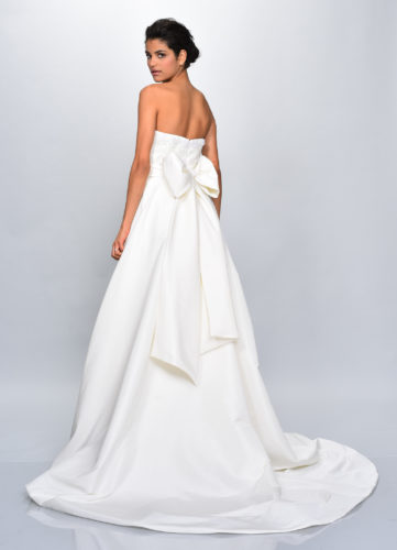 Theia Cassia, wedding dress, a-line wedding dress, strapless wedding dress, mikado wedding dress