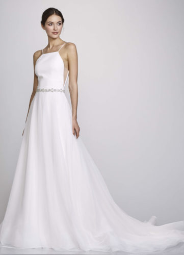 Theia Kate, Wedding Dress, plain wedding dress, a-line wedding dress