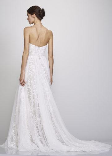 Theia Madalyn, Wedding Dress, a-line wedding dress, boho wedding dress, strapless wedding dress