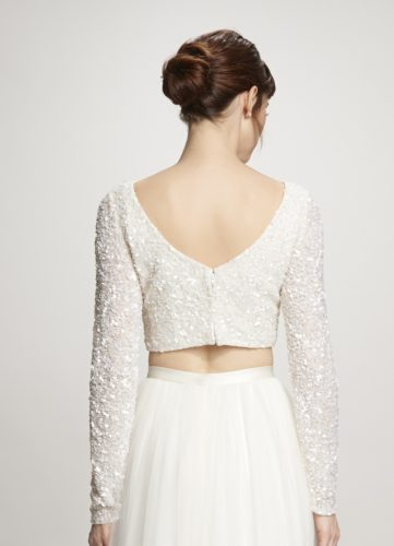 Theia Ruby Top, bridal separates, bridal two piece