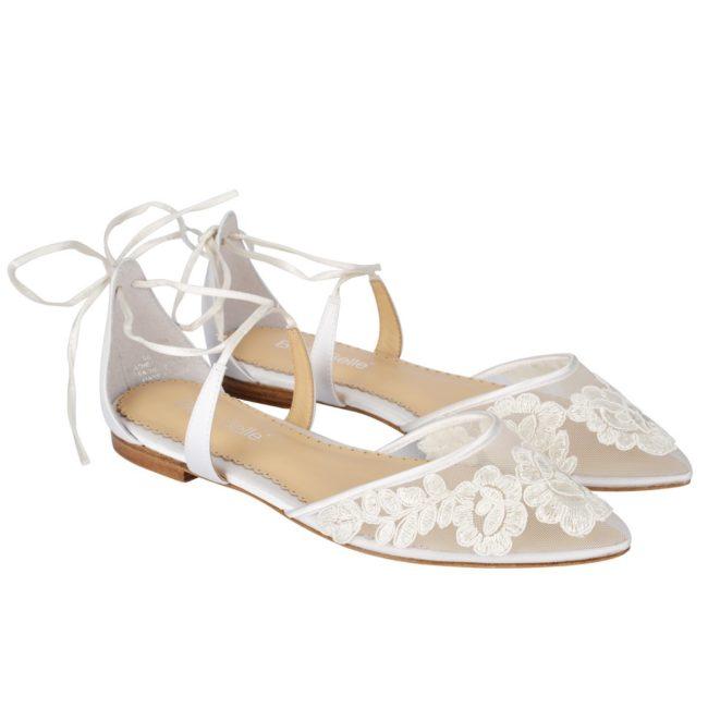 Bella Belle Shoes Alicia, wedding shoes, lace wedding shoes, ivory wedding shoes, flat wedding shoes, wedding flats, comfortable wedding shoes