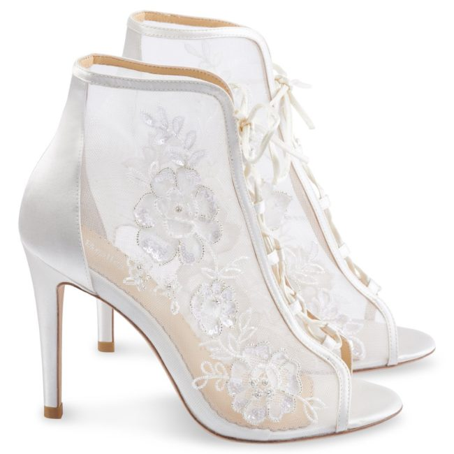 Bella Belle Shoes Angelina, wedding shoes, wedding boots, ivory wedding shoes, lace wedding shoes, comfortable wedding shoes, pretty wedding shoes