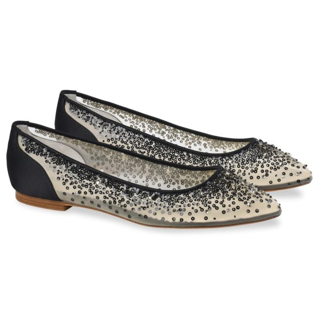 Bella Belle Shoes Ariel, flat shoes, ballet flat shoes, black pretty flats, black evening flats, flat occasion shoes, flat evening shoes