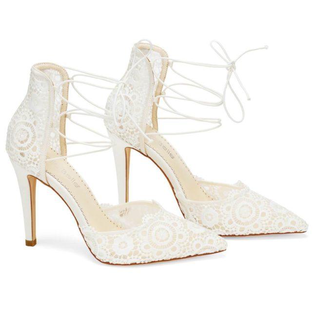 Bella Belle Shoes Cameron, wedding shoes, ivory wedding shoes, beautiful wedding shoes, modern wedding shoes, designer wedding shoes, lace wedding shoes