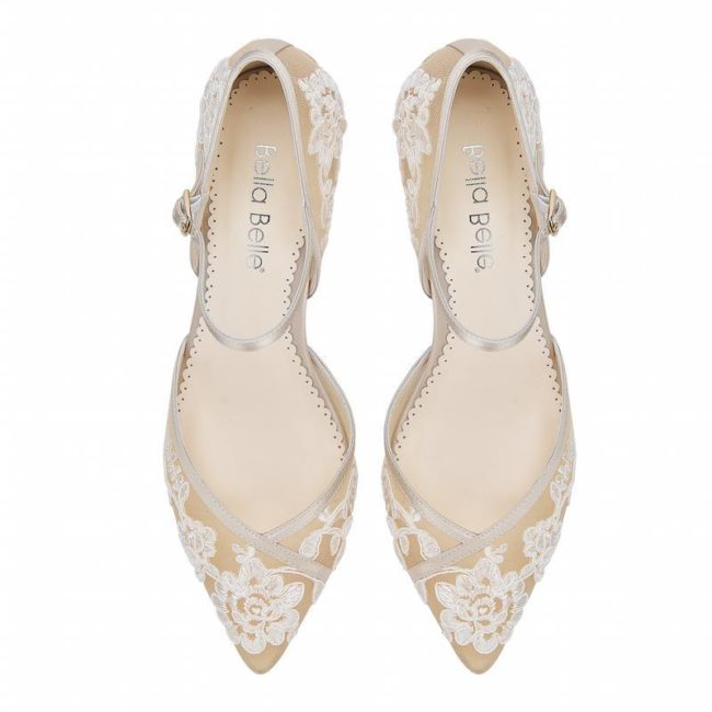 Bella Belle Shoes Candice, wedding shoes, nude wedding shoes, lace wedding shoes, kitten heel wedding shoes, pretty wedding shoes, vintage wedding shoes, comfortable wedding shoes
