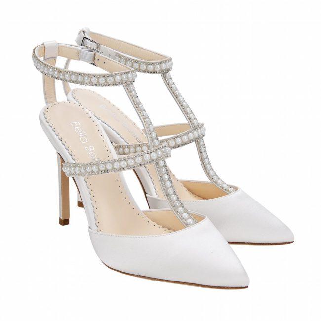 Bella Belle  Shoes Carolina, wedding shoes, ivory wedding shoes, closed toe wedding shoes, satin wedding shoes, comfortable wedding shoes
