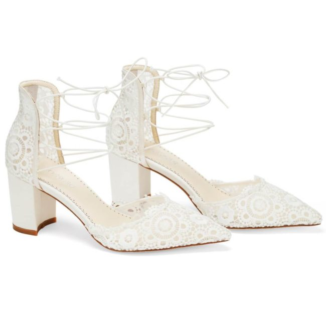 Bella Belle Shoes Cassie, wedding shoes, ivory wedding shoes, beautiful wedding shoes, modern wedding shoes, designer wedding shoes, block wedding shoes