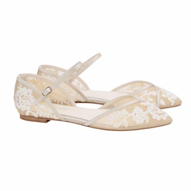 Bella Belle Shoes Celia, wedding shoes, wedding flats, vintage wedding shoes, nude wedding shoes, lace wedding shoes, flat wedding shoes, comfortable wedding shoes, pretty wedding shoes