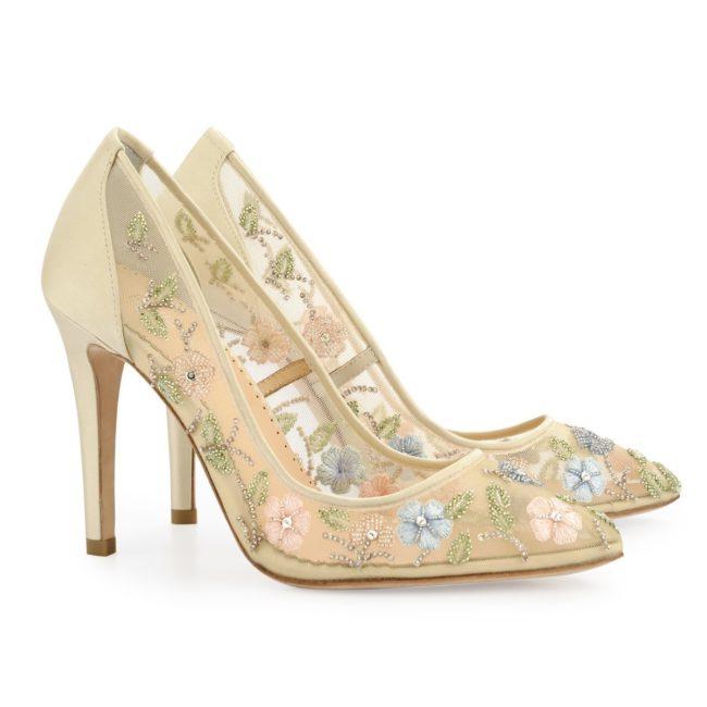 Bella Belle Shoes Chloe, wedding shoes, nude wedding shoes, pretty wedding shoes, beaded wedding shoes, closed toe wedding shoes, comfortable wedding shoes, high heel wedding shoes