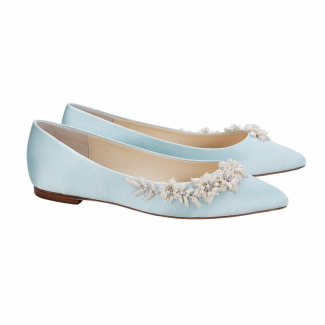 Bella Belle Shoes Daisy, wedding shoes, flat wedding shoes, blue wedding shoes, wedding shoe flats, something blue, pretty wedding shoes, pretty wedding flat shoes, comfortable wedding shoes