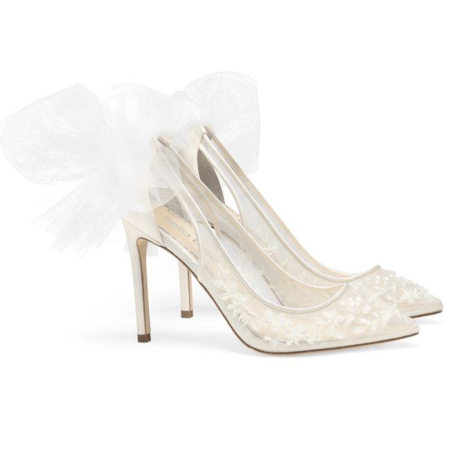 Bella Belle Shoes Edna, wedding shoes, ivory wedding shoes, modern wedding shoes, high heel wedding shoes, ivory wedding shoes, lace wedding shoes, beaded wedding shoes, comfortable wedding shoes