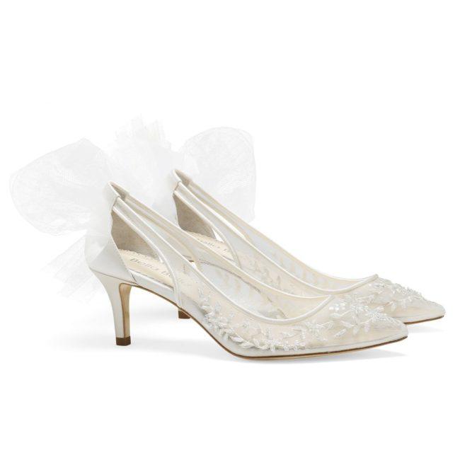 Bella Belle Shoes Esther, Wedding shoes, comfortable wedding shoes, pretty wedding shoes, pretty shoes, ivory wedding shoes, lace wedding shoes, kitten heel, kitten heel wedding shoes, low heel wedding shoes